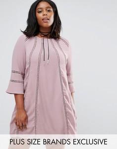Цельнокройное платье с расклешенными рукавами Truly You - Фиолетовый