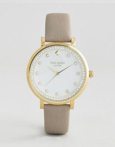 Kate Spade New York Grey Leather Monterey Watch - Серый