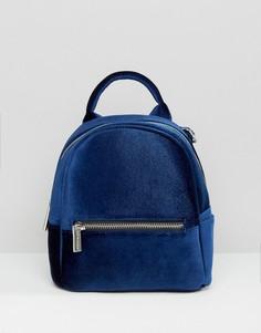 Синий бархатный мини-рюкзак Skinnydip - Синий