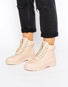 Массивные ботинки в походном стиле с молнией Truffle - Черный