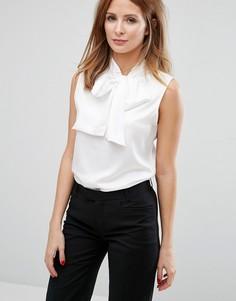 Блузка без рукавов с бантом Millie Mackintosh - Белый