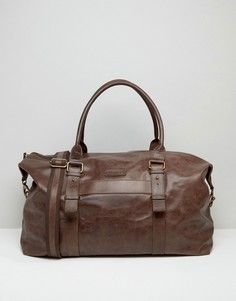 Коричневая кожаная сумка Barneys Explorer - Коричневый Barneys Originals