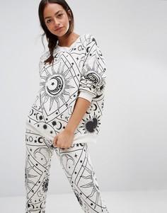 Пижамный свитер Wildfox Moon Astrology - Серый