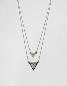 Ожерелье в два ряда House Of Harlow - Серебряный