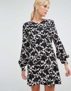 Платье с цветочным принтом Sportmax Code - Розовый