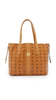 Двусторонняя объемная сумка-шоппер MCM