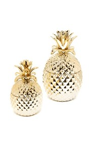 Набор Golden Hospitality из двух кувшинов в форме ананаса Gift Boutique