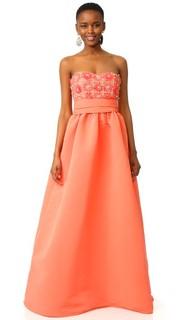 Бальное платье без бретелек Marchesa Notte