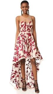 Асимметричное платье в полоску Marchesa Notte