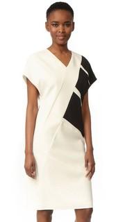 Платье с V-образным вырезом и короткими рукавами Narciso Rodriguez