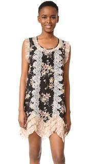 Платье с принтом в виде диких цветов Anna Sui