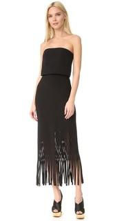 Платье без бретелек из крепа Dion Lee