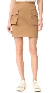Мини-юбка в стиле милитари Dsquared2