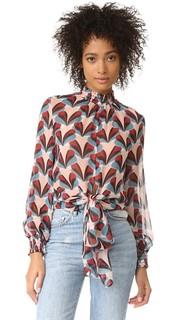 Блуза Tie Front Н/Nicholas Petal в стиле ретро