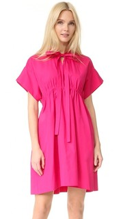Поплиновое платье с короткими рукавами No. 21