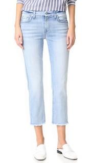 Прямые джинсы до щиколотки с выпущена по низу 7 For All Mankind