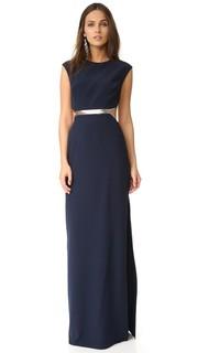 Платье с металлической деталью Halston Heritage