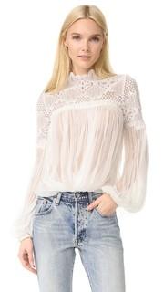 Фиолетовая Камелия шелковая блузка Lover