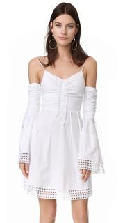 Платье с расклешенными рукавами со сборками на Н/Nicholas