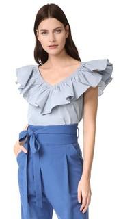 Блуза с оборками Rebecca Taylor