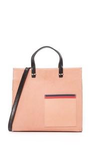 Простая миниатюрная сумка с короткими ручками Clare V.