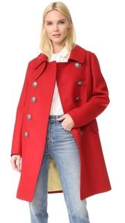 Двубортное пальто в стиле милитари Dsquared2
