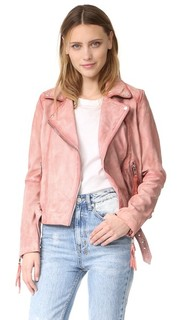 Розовая кожаная байкерская куртка Free People