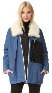 Пальто с Citroen короткая шерсть. Sandy Liang