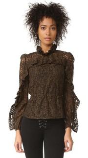 Кружевная блуза с высоким вырезом Sonia by Sonia Rykiel