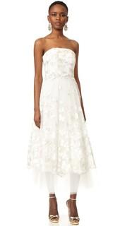 Платье без бретелек Butterfly Marchesa Notte