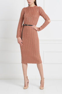 Шерстяное платье с пайетками Nina Ricci