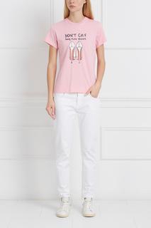 Хлопковая футболка с принтом Girls In Bloom