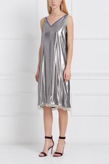 Платье цвета металлик Alexander Arutyunov