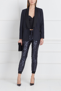 Шелковые брюки с пайетками Daria Bardeeva