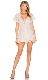 Embroidered flower romper - Lurelly