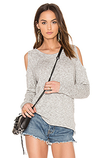 Marled knit cold shoulder top - Bobi