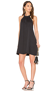 Black woven halter dress - Bobi