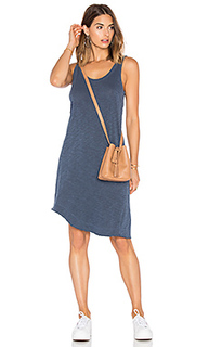 Slub twisted hem tank dress - Wilt