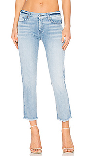 Distressed unfinished hem ankle straight - 7 For All Mankind