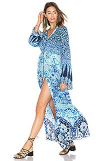 Макси платье с принтом - HEMANT AND NANDITA