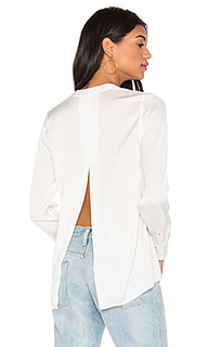 Satin slit back blouse - Vince