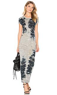 Платье в рубчик с короткими рукавами - Enza Costa