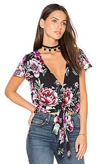Cropped tie top - AUGUSTE