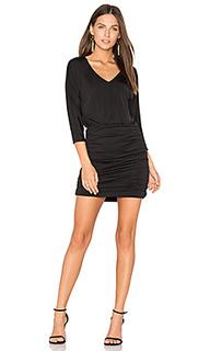Мини платье из джерси с рюшами black luxe - Bobi