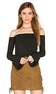 Hyatt off shoulder bell sleeve top - Michael Lauren