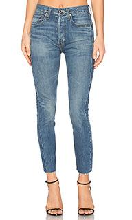 Укороченные джинсы с высокой посадкой rigid - RE/DONE