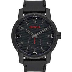 Кварцевые часы Nixon Patriot Leather All Black/Stamped