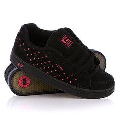 Кеды кроссовки женские Globe Viceroy Black/Pink Skulka Dot