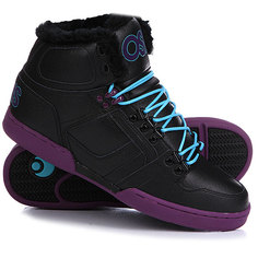 Кеды кроссовки утепленные Osiris Nyc 83 Shr Black/Purple/Teal