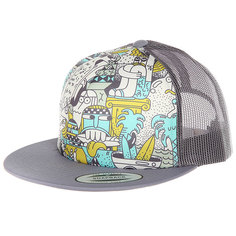Бейсболка с сеткой Nixon Pop Trucker Hat Gray Multi